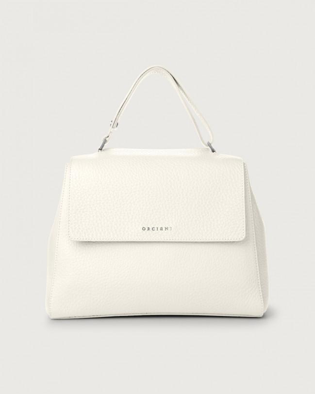 Orciani Sveva Soft medium leather shoulder bag Leather White