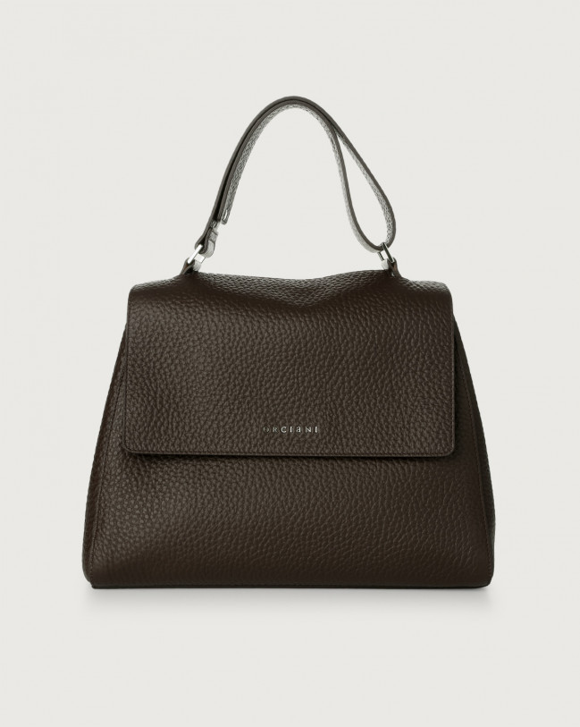 Orciani Sveva Soft medium leather shoulder bag Leather Chocolate