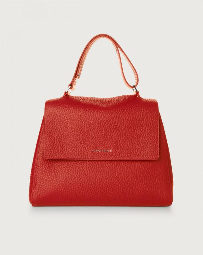 Orciani Sveva Soft medium leather shoulder bag Leather Red