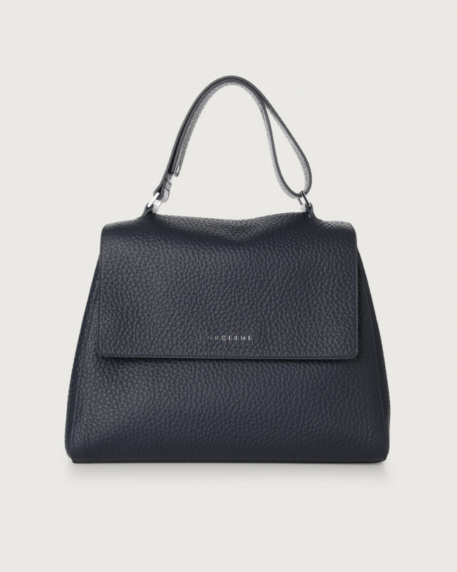 Orciani Sveva Soft medium leather shoulder bag Leather Navy