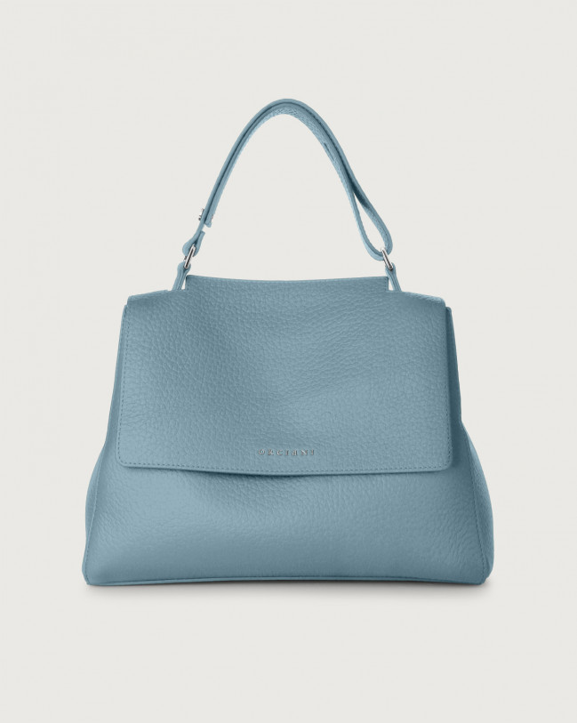 Orciani Sveva Soft medium leather shoulder bag Leather Light Blue