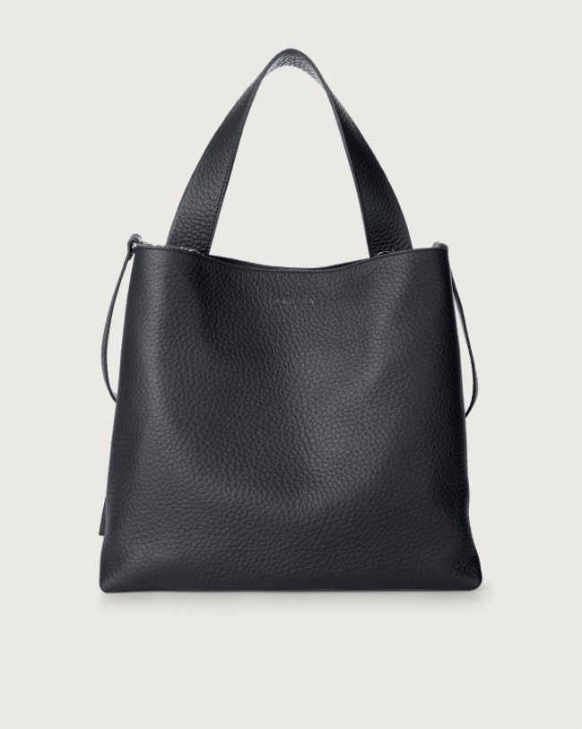 Orciani Jackie Soft leather shoulder bag Leather Navy