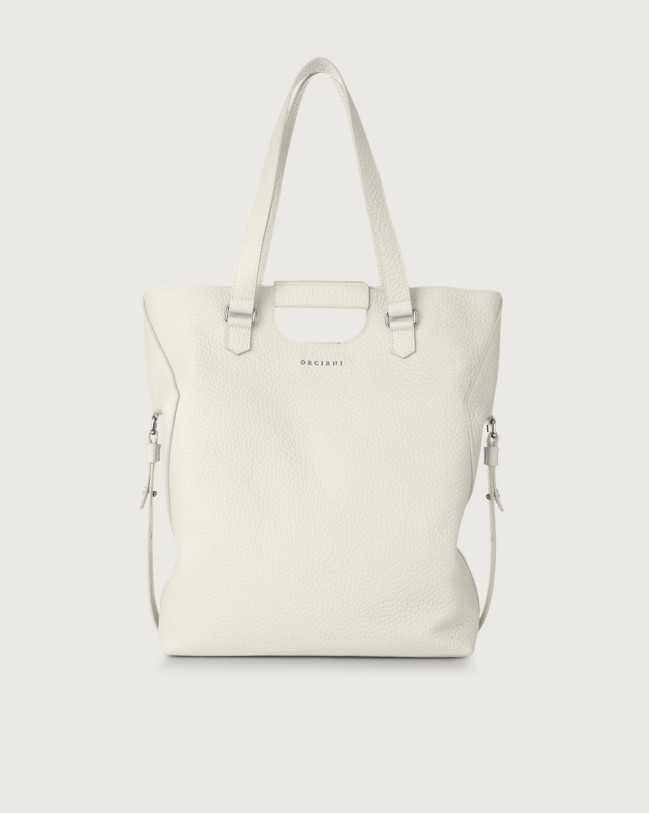 Orciani Isotta Soft large leather shoulder bag Leather White