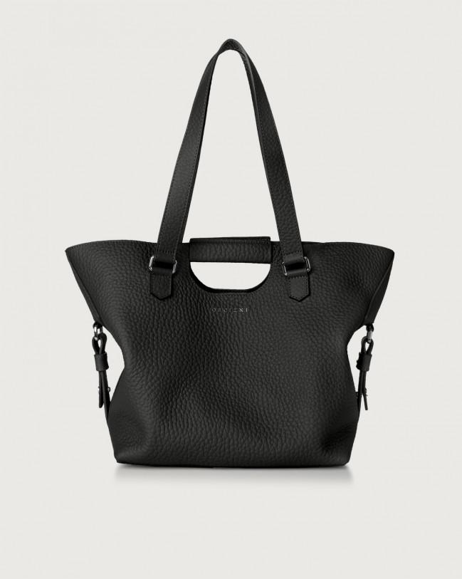 Orciani Isotta Soft leather shoulder bag Leather Black