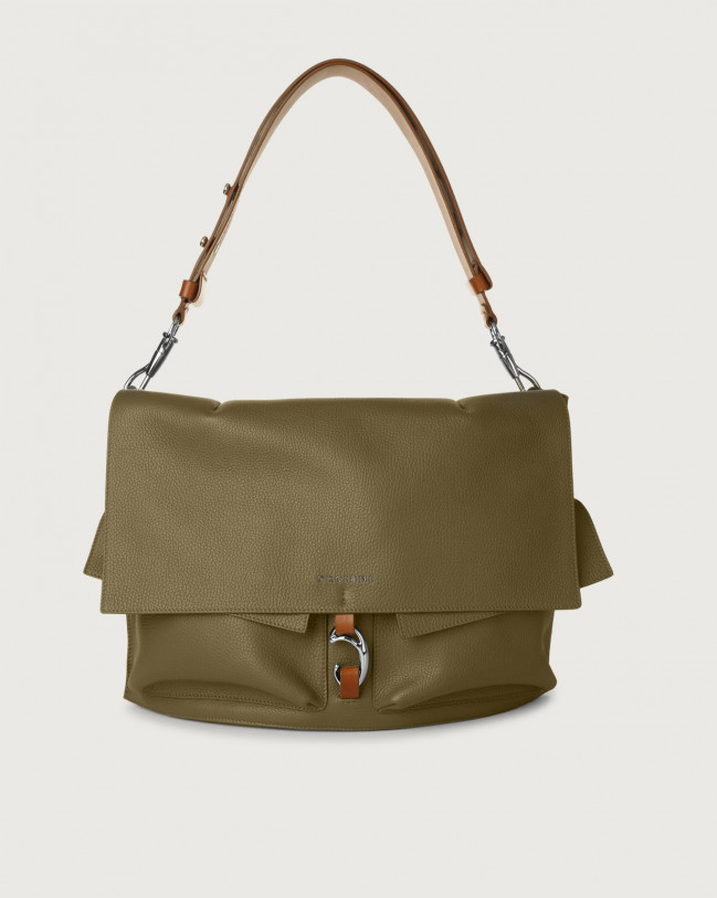 Orciani Scout Micron leather shoulder bag Green