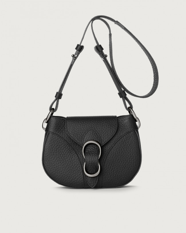 Orciani Beth Soft leather crossbody bag Leather Black