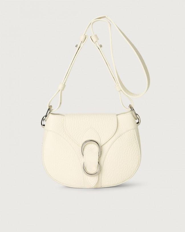 Orciani Beth Soft leather crossbody bag Leather White