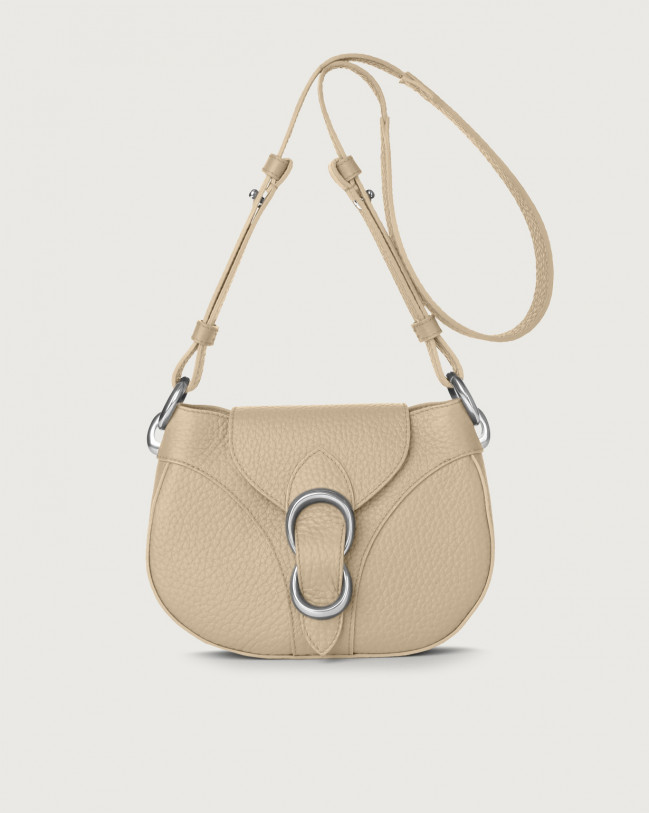 Orciani Beth Soft leather crossbody bag Leather Sand