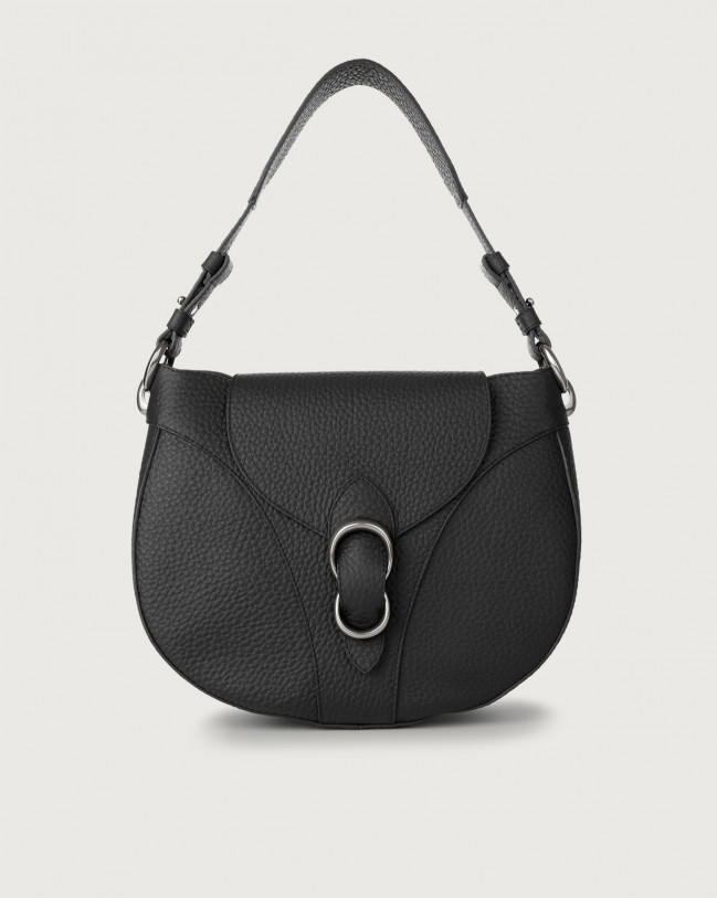 Orciani Beth Soft leather shoulder bag Leather Black