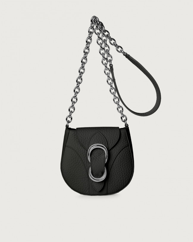 Orciani Beth Soft small leather crossbody bag Leather Black