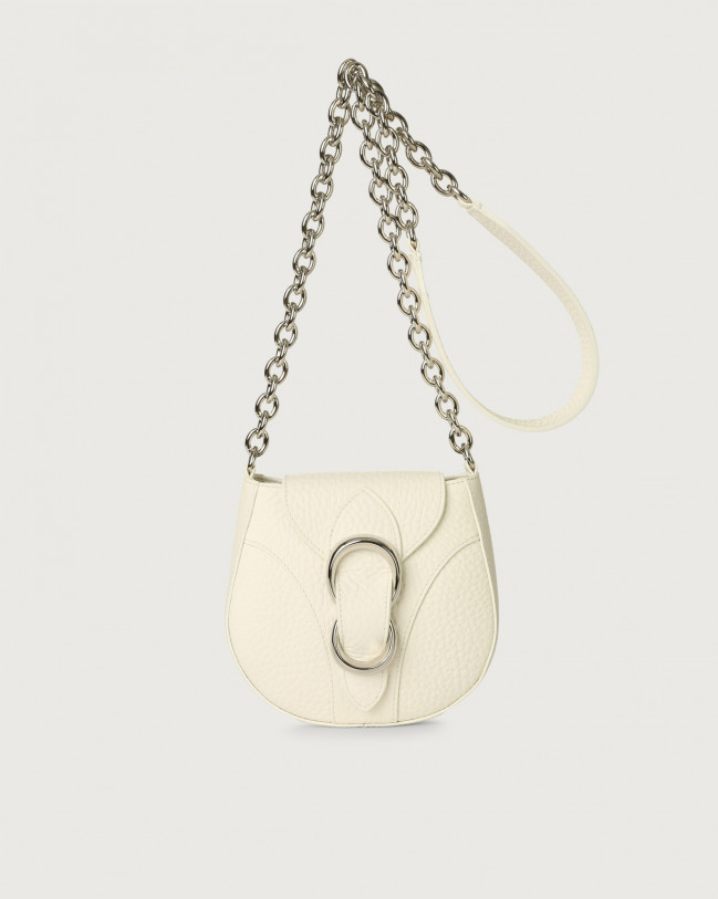 Orciani Beth Soft small leather crossbody bag Leather White