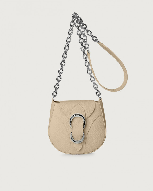 Orciani Beth Soft small leather crossbody bag Leather Sand