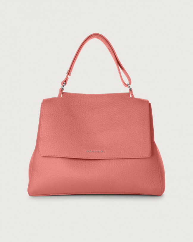Orciani Sveva Soft medium leather shoulder bag with strap Leather Pink