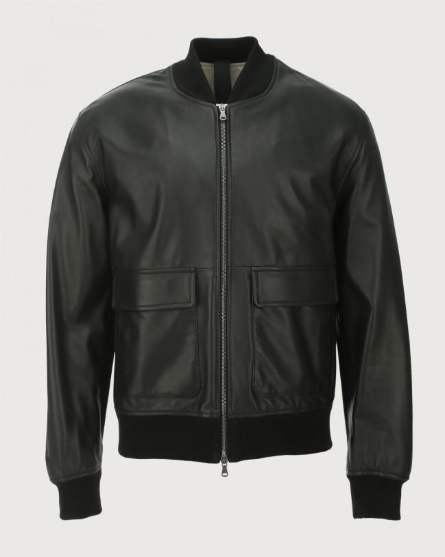 Orciani Nappa Nature leather bomber jacket Leather Black