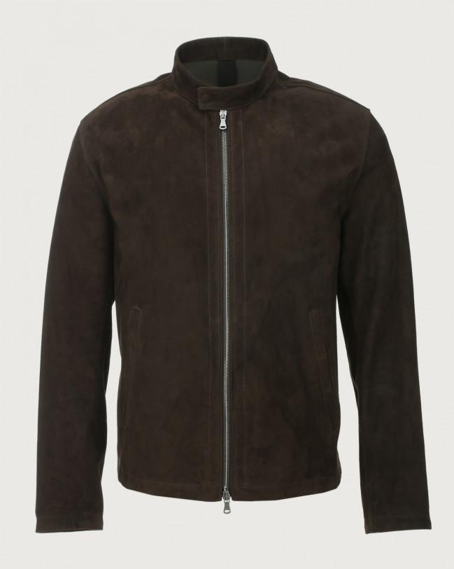 Orciani Camoscio suede biker jacket Suede Brown