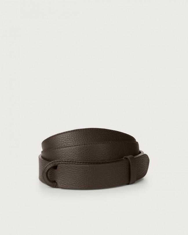 Orciani Micron leather Nobuckle belt Leather Chocolate