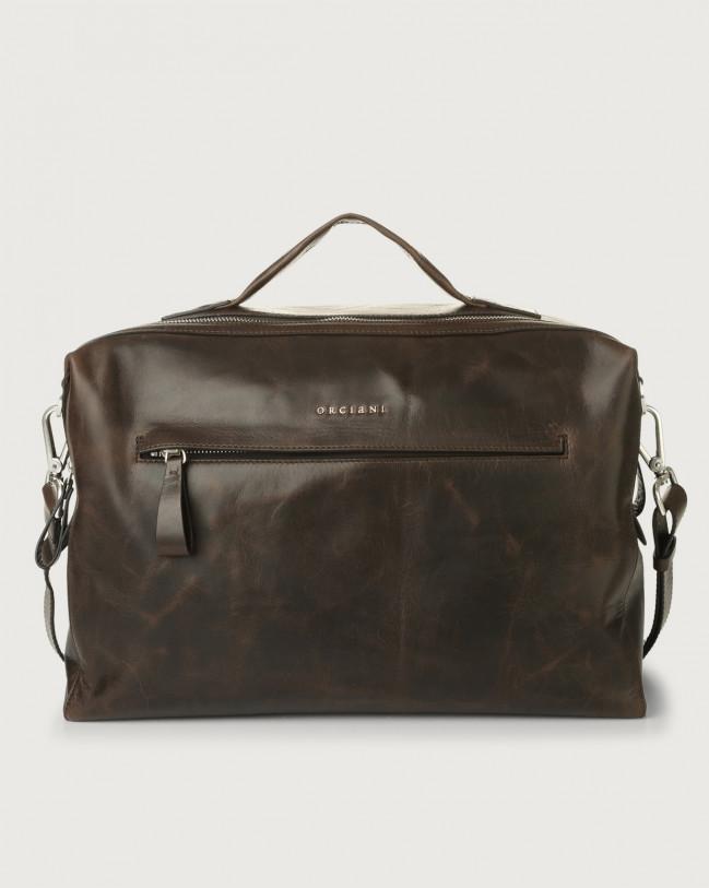 Orciani Bond Artik leather duffle bag Leather Chocolate