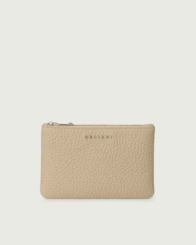 Orciani Soft leather pouch Leather Sand
