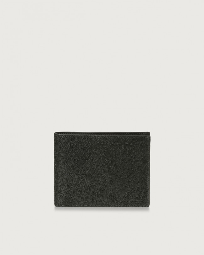 Orciani Frog leather wallet Embossed leather Black