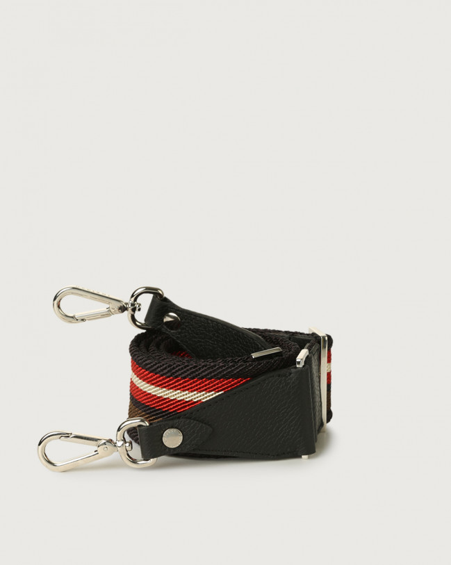 Orciani Lane fabric and leather strap Leather & fabric Red