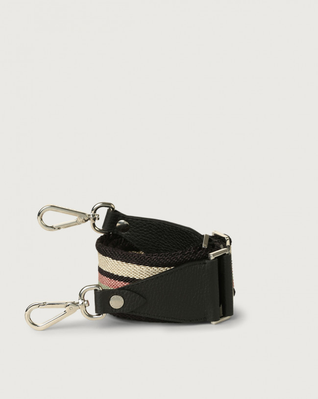 Orciani Lane fabric and leather strap Leather & fabric Pink