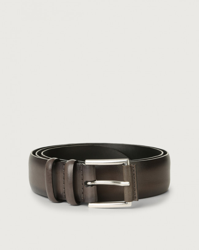 Orciani Buffer leather belt Leather Grey