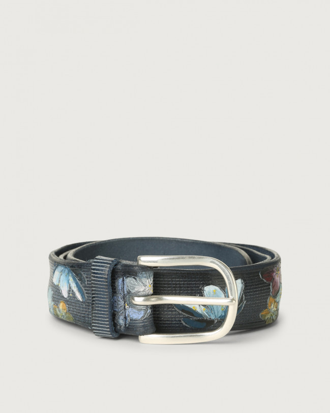 Orciani China leather belt Leather Blue
