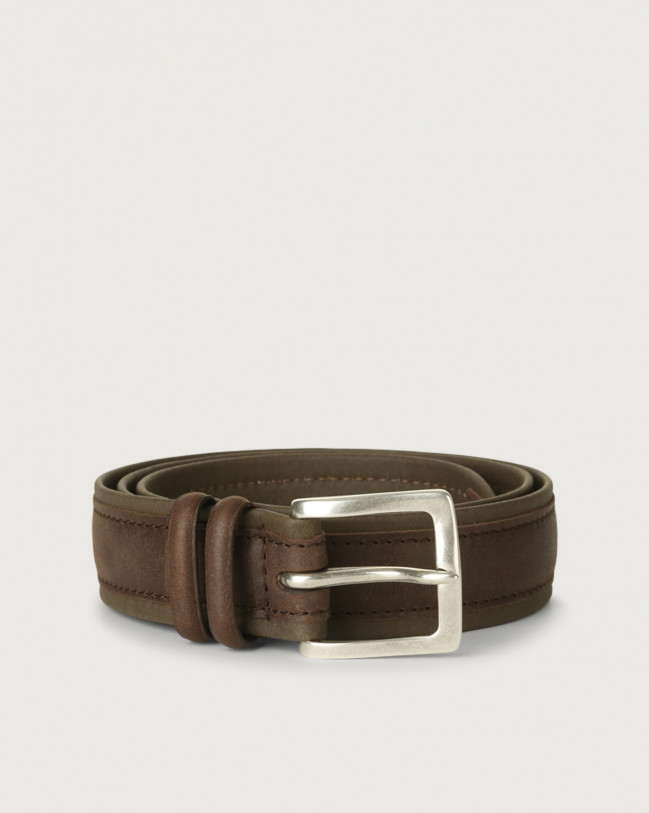 Orciani Leisure fabric and leather belt Leather & fabric Chocolate