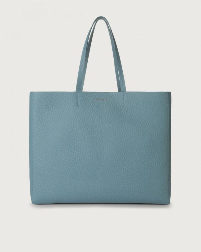 Orciani Le Sac Soft leather tote bag Leather Light blue