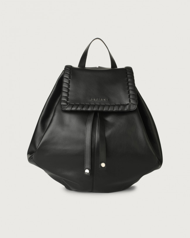 Orciani Iris Liberty leather backpack Leather Black