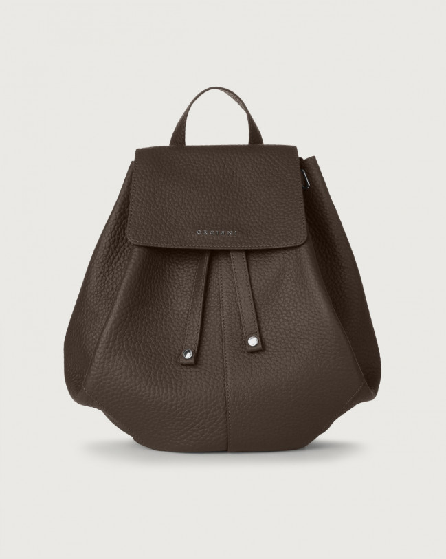 Orciani Iris Soft leather backpack Leather Chocolate