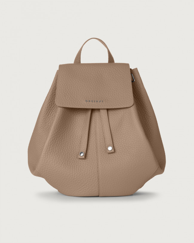Orciani Iris Soft leather backpack Leather Taupe