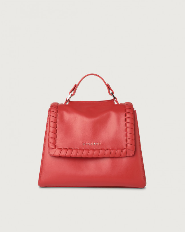 Orciani Sveva Liberty small leather handbag with strap Leather Red