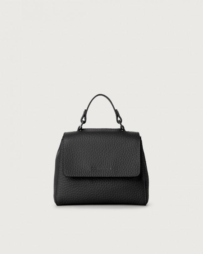 Orciani Sveva Soft mini leather handbag with strap Leather Black