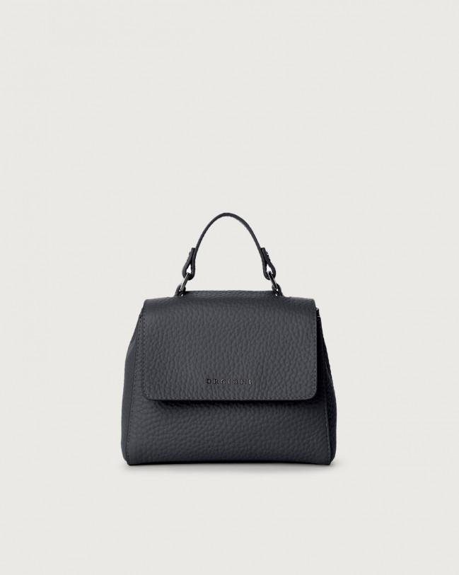 Orciani Sveva Soft mini leather handbag with strap Leather Navy