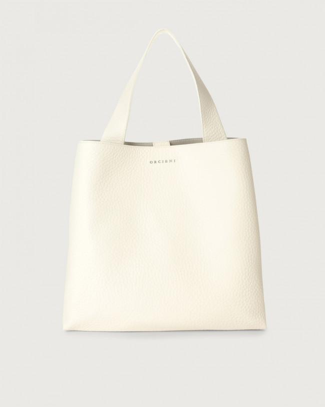 Orciani Jackie Soft leather shoulder bag Leather White