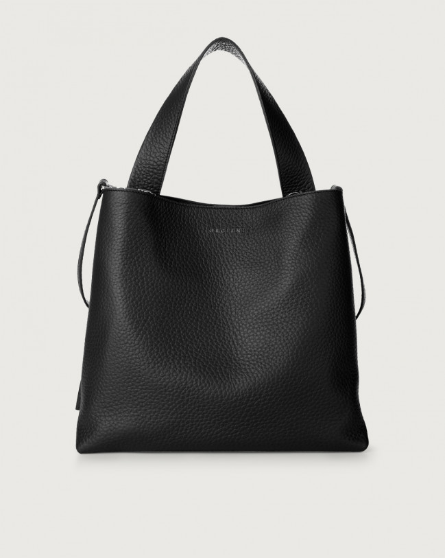 Orciani Jackie Soft leather shoulder bag Leather Black