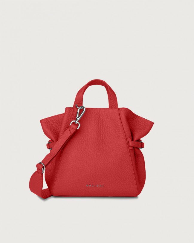Orciani Fan Soft small leather handbag Leather Marlboro red