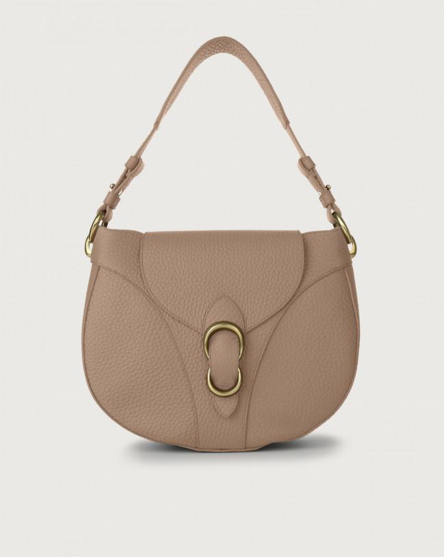 Orciani Beth Soft leather shoulder bag Leather Taupe