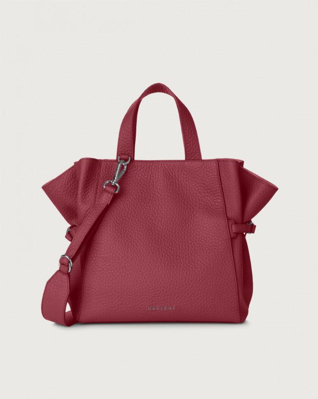 Orciani Fan Soft medium leather handbag Leather Purple