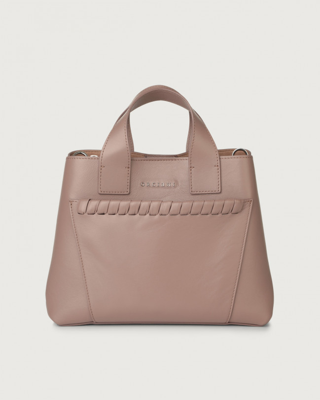 Orciani Nora Liberty leather handbag Leather Pink taupe