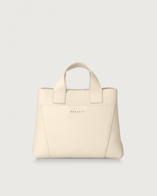 Orciani Nora Soft leather handbag Leather Ivory
