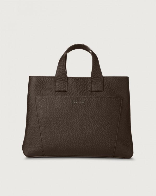 Orciani Nora Soft large leather handbag Chocolate