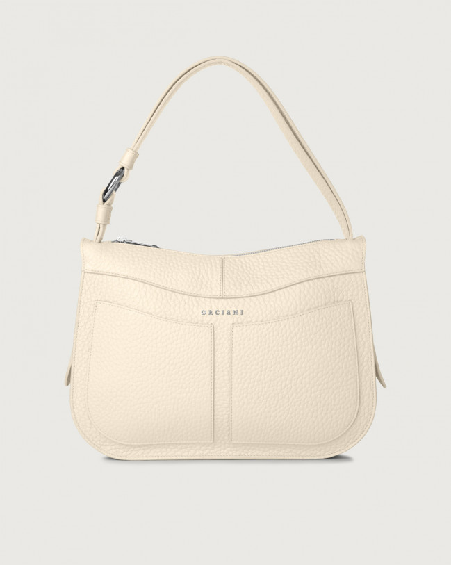 Orciani Ginger Soft medium leather shoulder bag Leather Ivory
