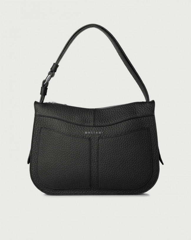 Orciani Ginger Soft medium leather shoulder bag Leather Black