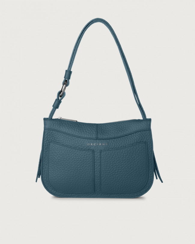 Orciani Ginger Soft small leather shoulder bag Leather Blue