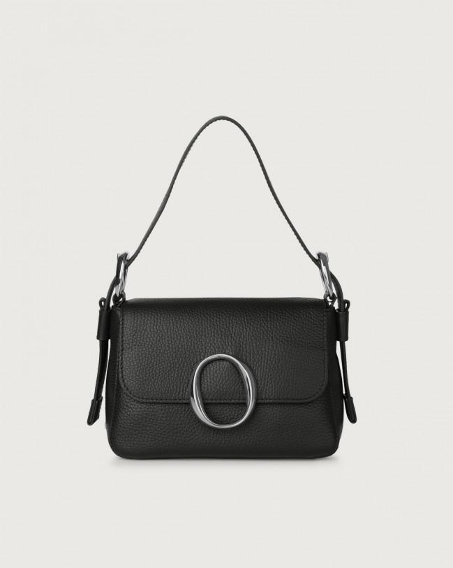 Orciani Soho Micron leather mini bag with strap Leather Black
