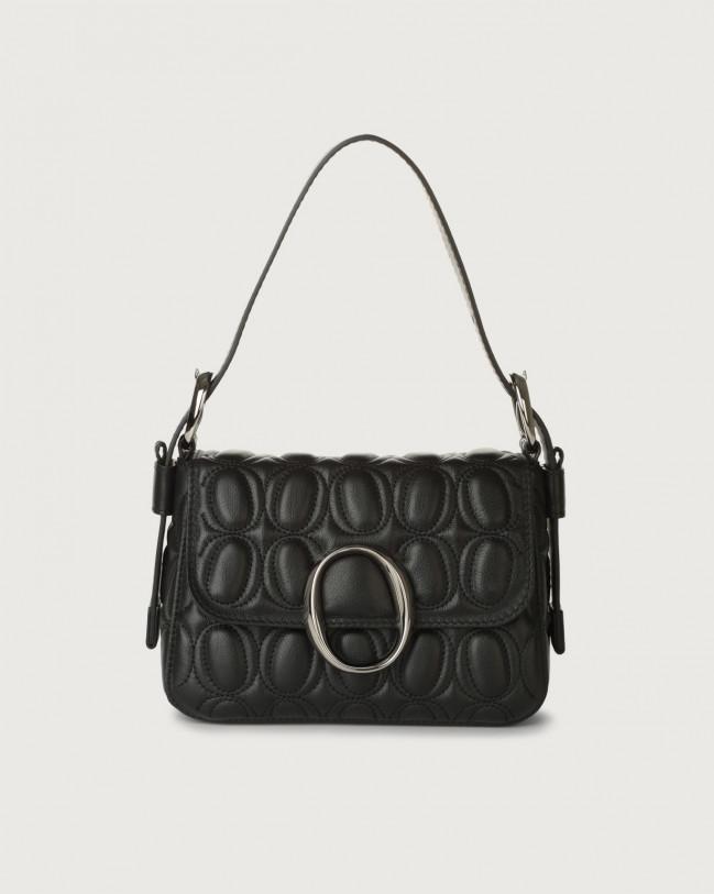 Orciani Soho Matelassé leather mini bag with strap Leather Black