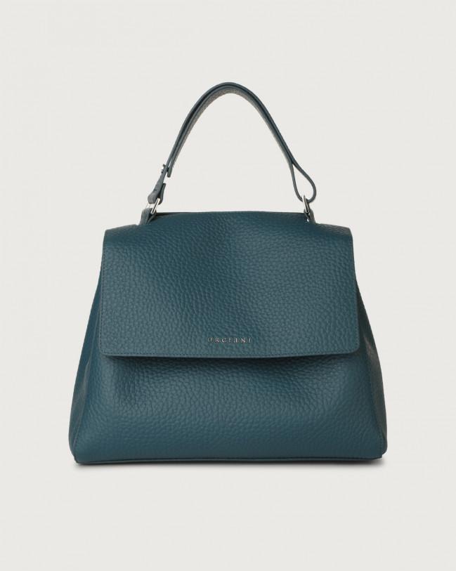 Orciani Sveva Soft medium leather shoulder bag with strap Leather Blue