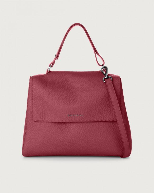 Orciani Sveva Soft medium leather shoulder bag with strap Leather Purple